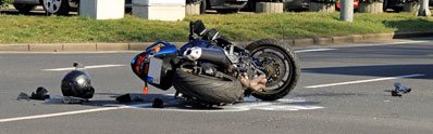 motorcycle after a crash